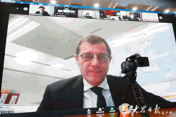 (2月25日,山東省舉行重點外商投資項目視頻集中簽約儀式 圖片來源:大眾日報)