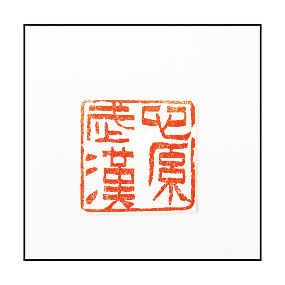 篆刻作品:《心系武汉》材质_昌化石
