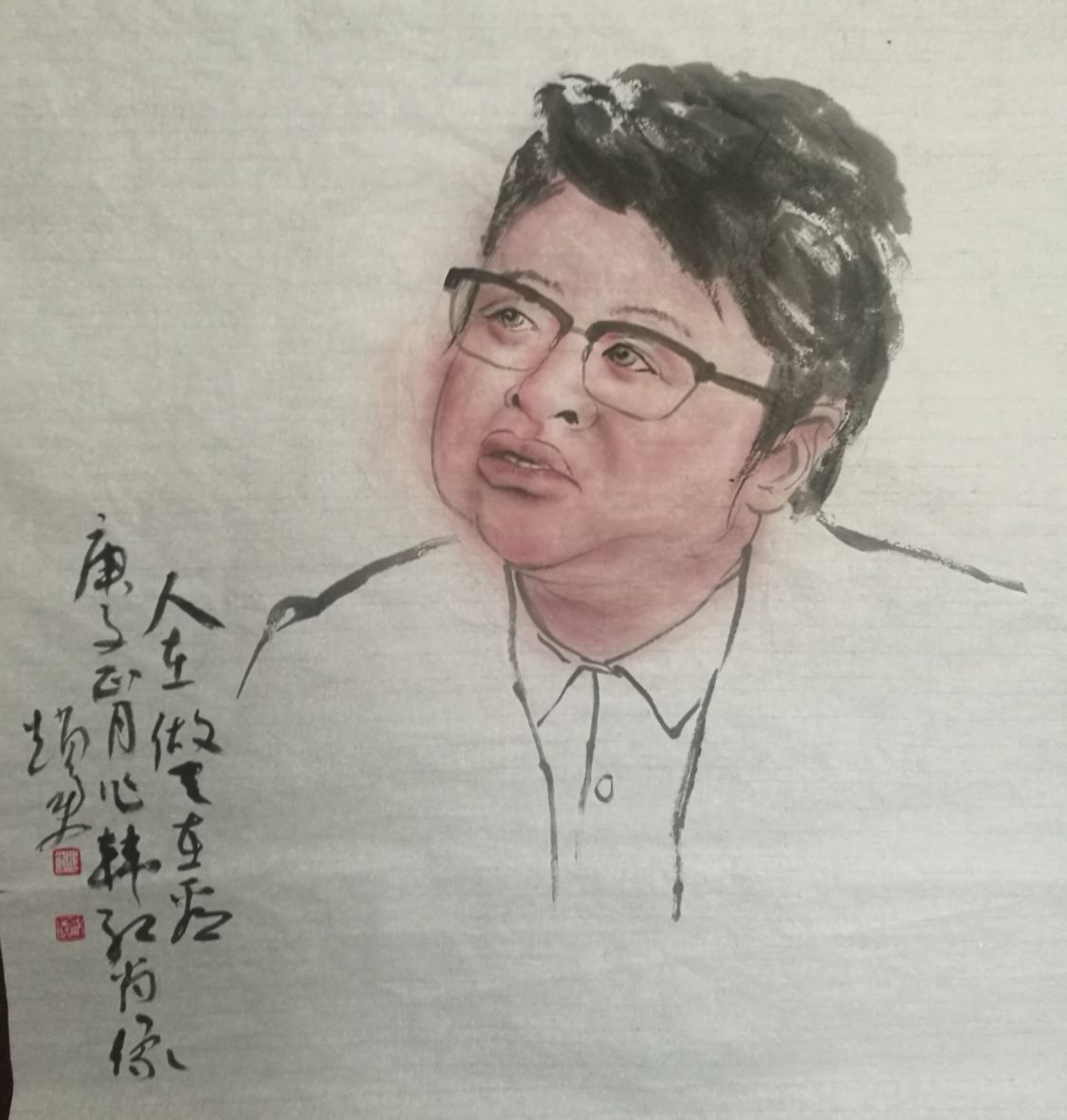国画:韩红肖像《人在做天在看》赵勇13793051199