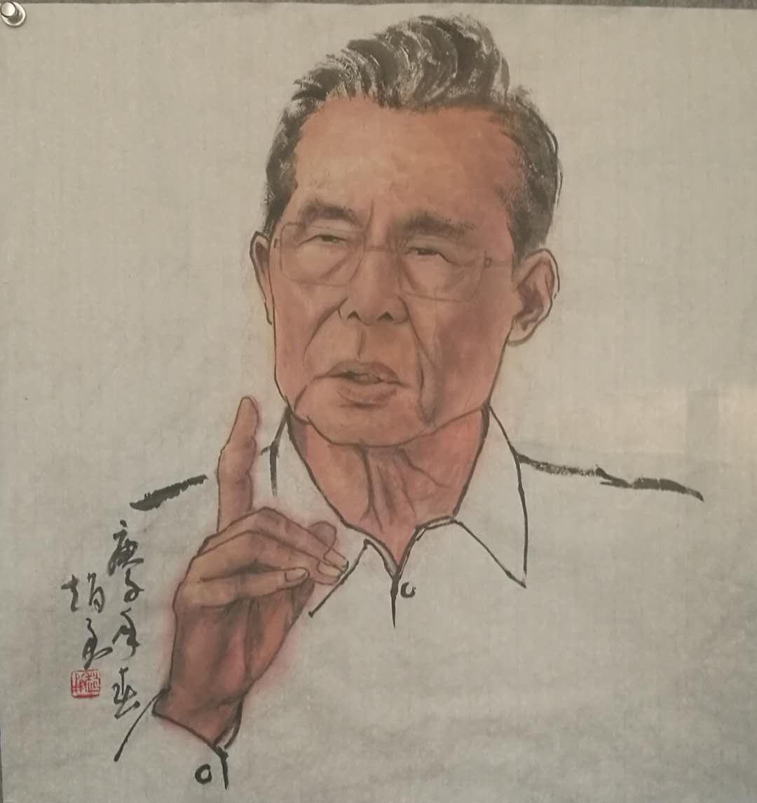国画:《钟南山