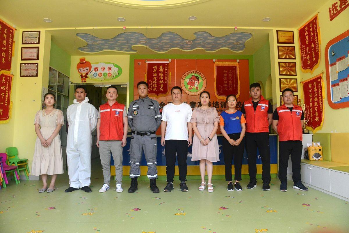 2020年6月3日,山东省茌平区茌平东方金子塔儿童潜能培训学校全面消杀现场。